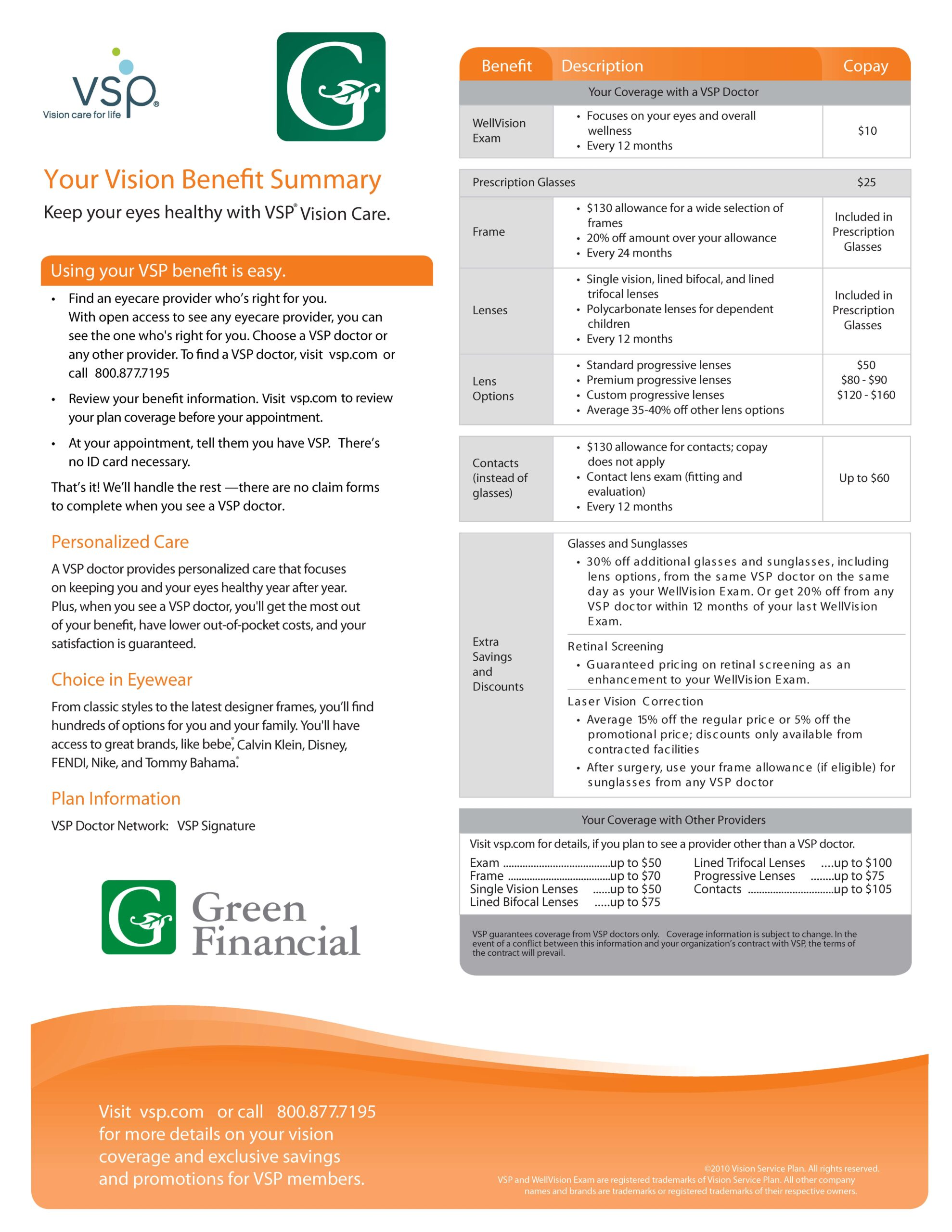 VSP Vision Benefits $10-$25 v3