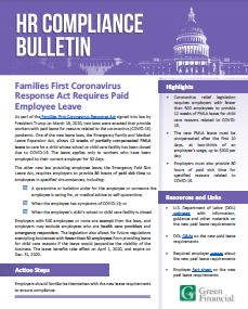Families First CV Act Recuires Paid Leave